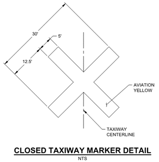 Closed Taxiway Detail
